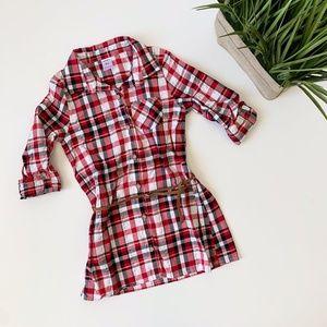 Carter's Plaid Tunic Shirt Girls Red Size 7